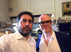 Llucia Homs with Hans Ulrich Obrist